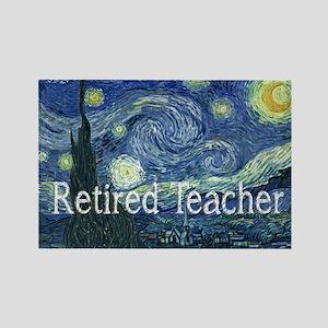 Retired TEacher Van Gogh Blanket Rectangle Mag
