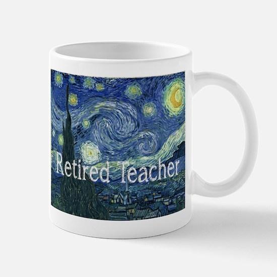 Retired TEacher Van Gogh Blanket.PNG Mug