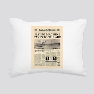 Wright Bros. Headline Rectangular Canvas Pillow