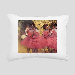 Dancers in Pink Rectangular Canvas Pillow
