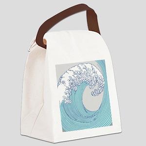Japanese Wave Blue Beach Ocean Se Canvas Lunch Bag