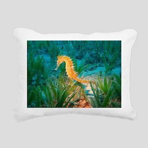 Seahorse Rectangular Canvas Pillow