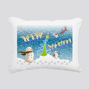 Holiday, happy Rectangular Canvas Pillow