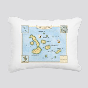 Galapagos Archipelago Map Rectangular Canvas Pillo