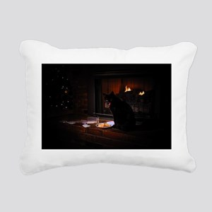 Bad Dog Christmas Rectangular Canvas Pillow
