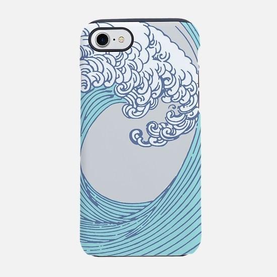 Japanese Wave Blue Beach Ocean iPhone 7 Tough Case