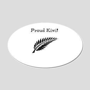 Proud Kiwi 20x12 Oval Wall Decal