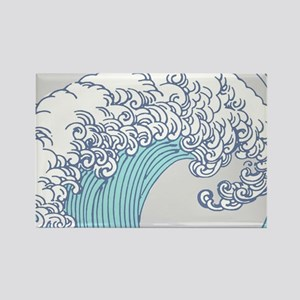 Japanese Wave Blue Beach Ocean Seashore Magnets