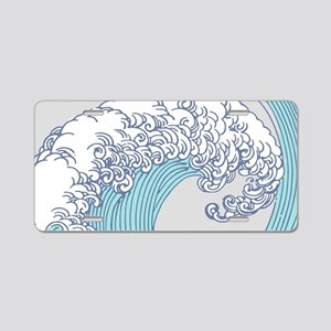 Japanese Wave Blue Beach Oc Aluminum License Plate