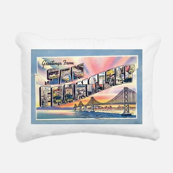 Cute San francisco Rectangular Canvas Pillow