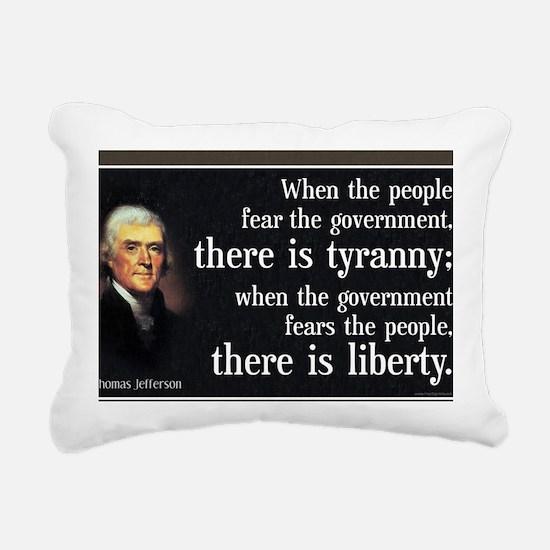 Jefferson: Liberty vs. Tyranny Rectangular Canvas