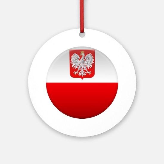 Polish Button Ornament (Round)