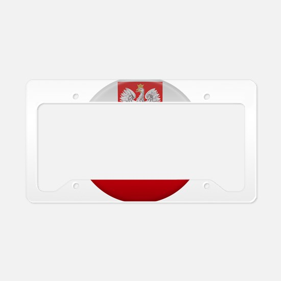 Polish Button License Plate Holder