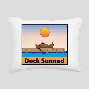 Dock Sunned Dachsund Rectangular Canvas Pillow