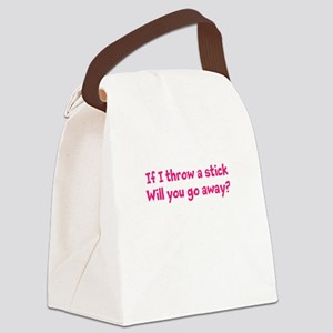 Throw a Stick Canvas Lunch Bag