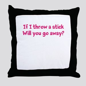 Throw a Stick Throw Pillow