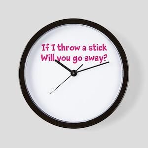 Throw a Stick Wall Clock