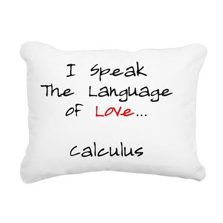 Calculus Love Language Rectangular Canvas Pillow