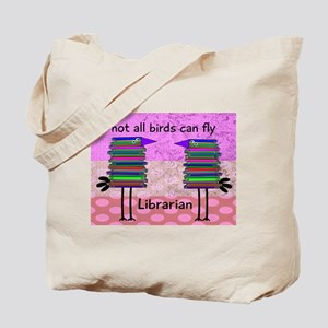 librarian not all birds can fly PINK.PNG Tote Bag