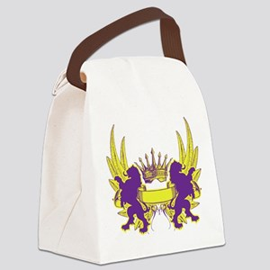 Crown and Banner Canvas Lunch Bag