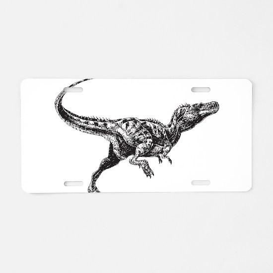 Dinosaur Aluminum License Plate