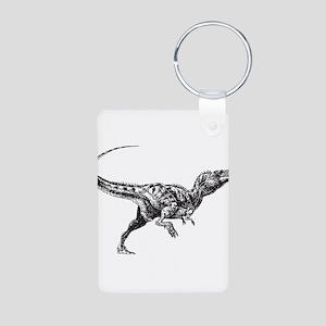 Dinosaur Aluminum Photo Keychain
