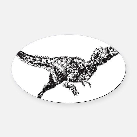 Dinosaur Oval Car Magnet
