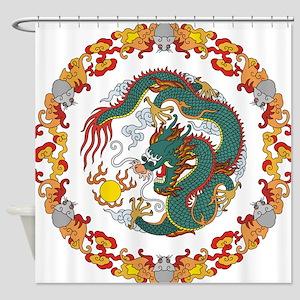 Dragon Art Shower Curtain