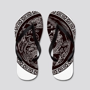 Oriental Art Flip Flops