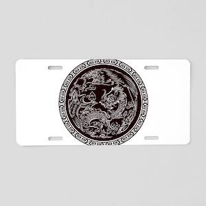 Oriental Art Aluminum License Plate
