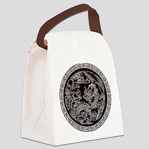 Oriental Art Canvas Lunch Bag