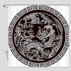 Oriental Art Shower Curtain