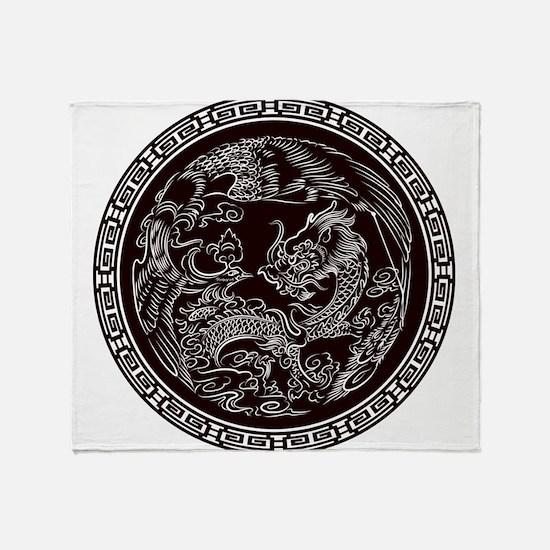 Oriental Art Throw Blanket