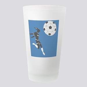 wmssoccerBTN Frosted Drinking Glass