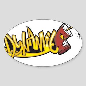 Dynamite Sticker (Oval)