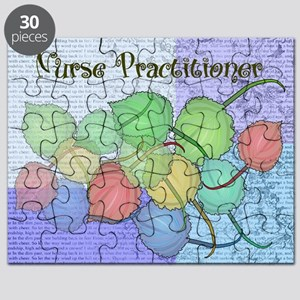 Nurse Practitioner Blanket Leaves BLUE Puzzle