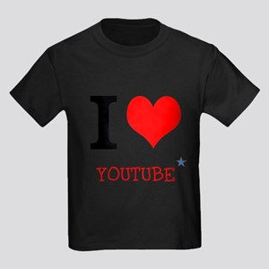 I love YouTube Kids Dark T-Shirt