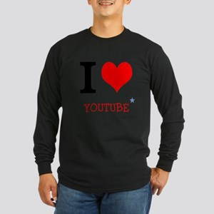 I love YouTube Long Sleeve Dark T-Shirt