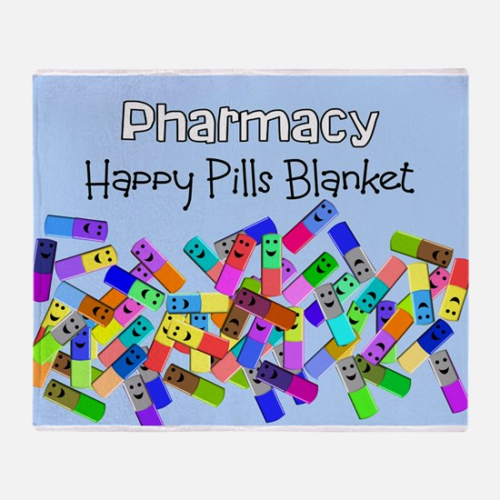 pharmacy happy pills blanket BLUE.PNG Stadium Bla