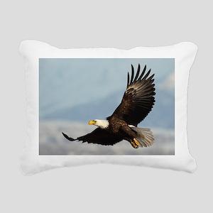 Eagle Flight Rectangular Canvas Pillow