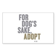 For Dogs Sake, Adopt Sticker (Rectangle 50 pk)