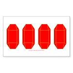 GemRD000GT Sticker (Rectangle 50 pk)