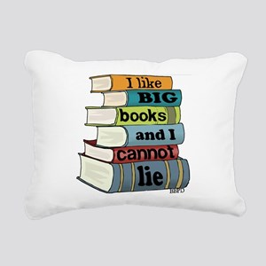 I Like Big Books Rectangular Canvas Pillow