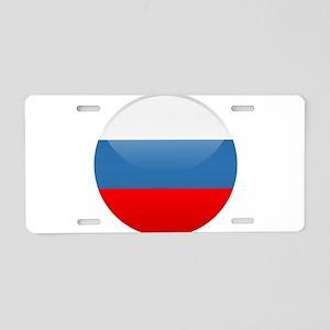 Russian Button Aluminum License Plate