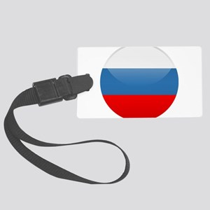Russian Button Large Luggage Tag