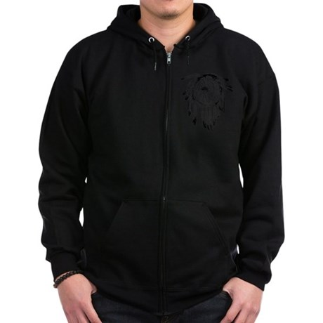 Native American Ornament Zip Hoodie (dark)