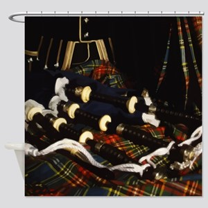 Scotland Bagpipes Shower Curtain