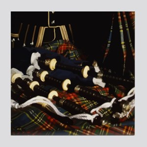 Scotland Bagpipes Tile Coaster