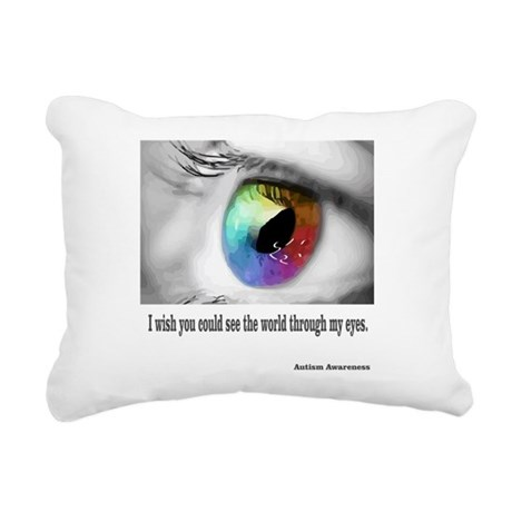 I wish you could see Rectangular Canvas Pillow