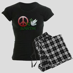 Peace on earth Women's Dark Pajamas